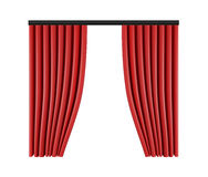 Set of red curtains to theater stage. Mesh vector illustration. Royalty Free Stock Photos