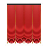 Set of red curtains to theater stage. Mesh vector illustration. Stock Image