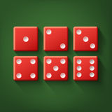 Set of red dice Stock Images