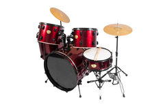 Set of Red drums  with clipping path Stock Image