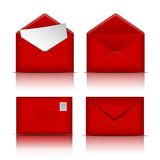 Set of Red envelopes. Stock Photography