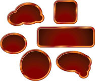 Set of red frames Royalty Free Stock Image