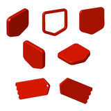 Set of red free tags, buttons and icons Royalty Free Stock Image