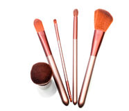 Set of red-fur brushes Stock Photo