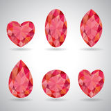 Set of red geometric Royalty Free Stock Photo