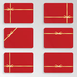 Set of red gift card Stock Photo