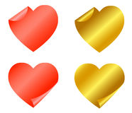 Set of red and gold stickers Stock Photography
