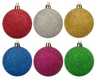 Glitter spheres with metallic effect. Sparkle decorative template royalty free stock photo