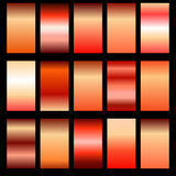 Set red gradients Royalty Free Stock Photo