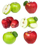Set with red and green apples Stock Photography