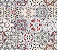 Set from red and grey hexagonal patterned tiles. Set of hexagonal patterned tiles. Eastern color pattern for the design of fabric, gift wrapping, floor and wall Stock Images
