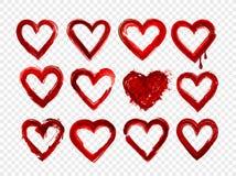 Set of red grunge hearts. Vector illustration. Set of red grunge hearts. Vector illustration Stock Image