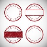 Set of red grunge rubber stamp,vector illustration Royalty Free Stock Photos