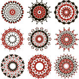 Set of red hamsa Royalty Free Stock Images