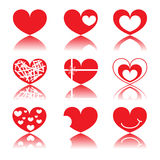 Set red heart icon royalty free stock photo