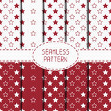 Set of red hipster fashion geometric seamless Royalty Free Stock Photography