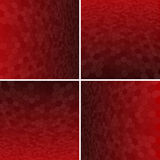 Set Red Honeycomb Vector Background. Royalty Free Stock Images