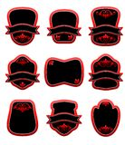 Set of red labels Royalty Free Stock Photo