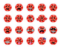 Set of red lollipop icons Stock Photos