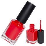 Set red nail polish Royalty Free Stock Photo