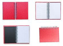 Set of Red notebook Stock Photos