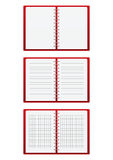 Set of red paper notebooks Royalty Free Stock Photo