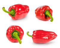 Set of red paprika Royalty Free Stock Photos
