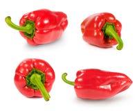 Set of red paprika Royalty Free Stock Photos