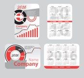 Set of red pocket calendar Stock Photography