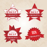 Set of red retro style badges Royalty Free Stock Photos