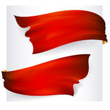 Set of 2 red ribbon banners Stock Photography