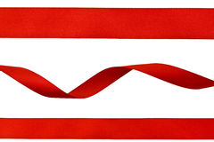 Set of red ribbons Stock Photography