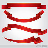 Set red ribbons Vector .EPS 10 Stock Photo