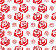 Set of red roses stock illustration