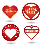 Set of red special promotion label. Stock Image