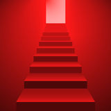 Set of red staircases Stock Images