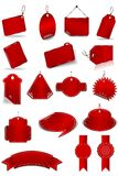 Set Red Stickers Stock Photography