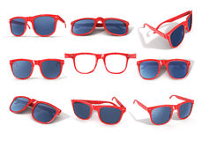 Set of red sun glasses Royalty Free Stock Photography