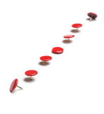 Red thumb tacks Stock Images