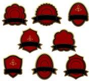 Set of red vintage labels Royalty Free Stock Image