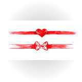 Set of red watercolor ribbons. Royalty Free Stock Image