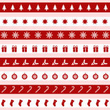 Set of red and white Christmas icons,  illustration. Set of red and white Christmas icons Royalty Free Stock Image