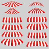 Set of Red White Tents vector illustration