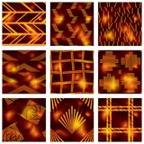 Set of reddish batik patterns Stock Photo