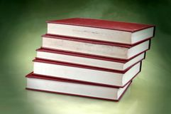 Set of redish orange old books Stock Photography