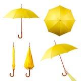 Set Regenschirme Lizenzfreie Stockfotos