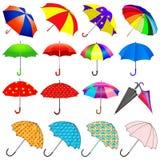 Set Regenschirme vom Regen stock abbildung