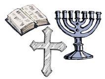 Set of religion attributes Royalty Free Stock Photo
