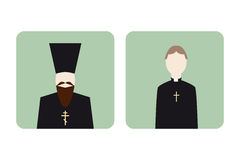 Set of religion icons Royalty Free Stock Photography