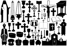 Set Of Religious Elements. Isolated on white Stock Photo